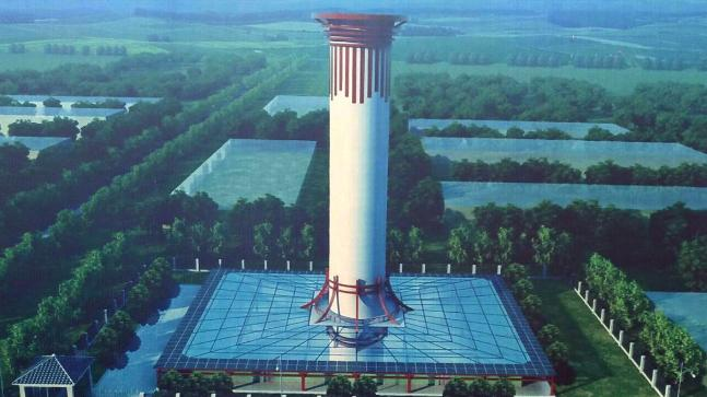 Over 100-metre high tower is fighting China's air pollution