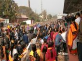 People protest at Maibong and disrupt rail lines