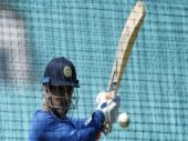 Mahendra Singh Dhoni gets ready for South Africa. Watch