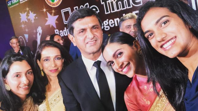 Prakash Padukone's awardee of Lifetime Achievement Award