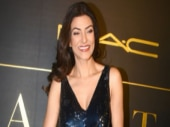 We didn't really like the blingy outfit Sushmita Sen wore. Photo: Yogen Shah