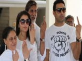 The Bachchans are regular voters.