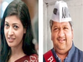 Alka Lamba (left) is Chandni Chowk MLA; (right) Dwarka MLA Adarsh Shastri