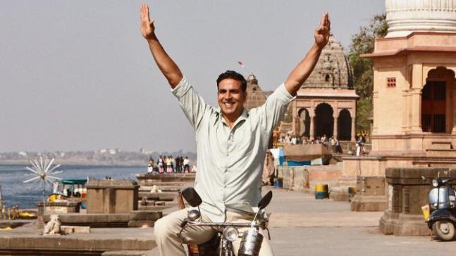 Akshay Kumar in a still from Pad Man