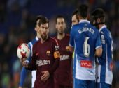 King's Cup: Lionel Messi misses penalty as Barcelona go down to Espanyol