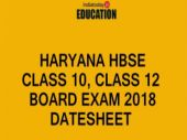 Haryana HBSE Class 10, Class 12 Board Date sheet 2018 released: Check exam dates here