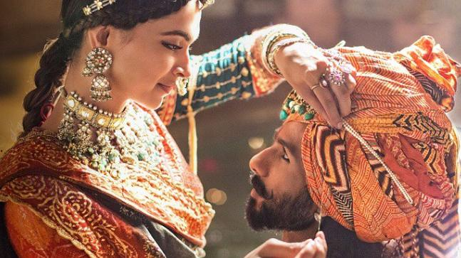Deepika Padukone and Shahid Kapoor in a still from Padmaavat