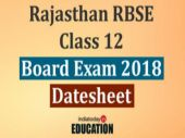 Rajasthan RBSE Class 12 Board Exam 2018: Date sheet released at rajeduboard.rajasthan.gov.in, check now