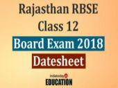 Rajasthan RBSE Class 12 Board Exam 2018
