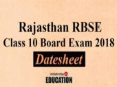 Rajasthan RBSE Class 10 Board Date sheet 2018 released: Check exam dates here