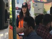 Anushka Shetty turns petrol pump jockey, raises money for a cause