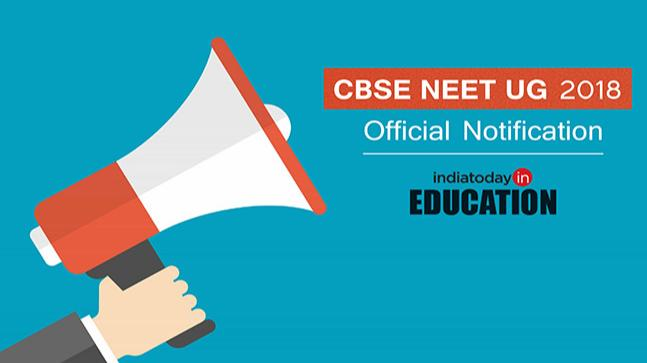 CBSE NEET UG Official Notification 2018
