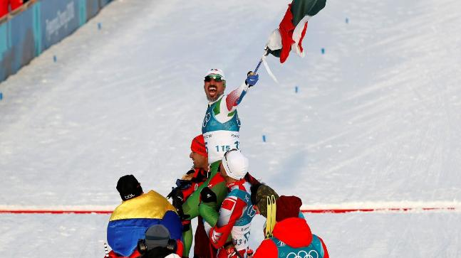 Mexican Skier Lifted Up By Competitors Despite Coming Last