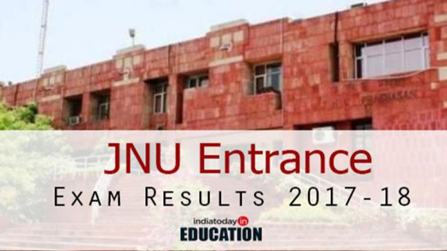 JNU Entrance Exam Results 2017-18