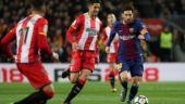 Lionel Messi's free kick against Girona leaves FC Barcelona teammates amazed