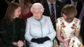 Queen Elizabeth paid a surprise visit to London Fashion Week for the first time