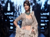 #LFW2018: Shilpa Shetty ruffled some feathers in her frilly showstopper lehenga