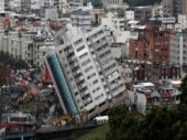 Rescuers shore up tilted buildings in earthquake-hit Taiwan city of Hualien