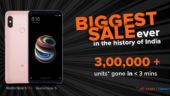 Xiaomi sells 3 lakh units of Redmi Note 5 and Redmi Note 5 Pro, Mi TV 4 sold out in 10 seconds