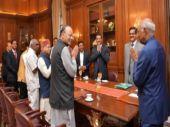 Finance Minister Arun Jaitley meets President Ram Nath Kovind