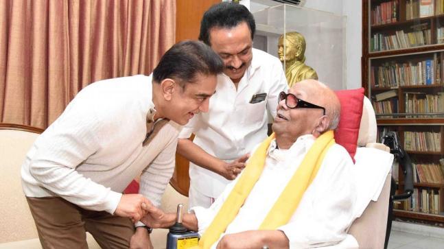 Kamal Haasan meets Rajinikanth two days before his party launch