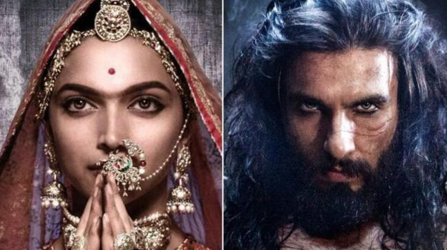 Deepika Padukone and Ranveer Singh in posters of Padmaavat