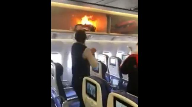 Watch Passenger S Luggage Catches Fire Due To Power Bank