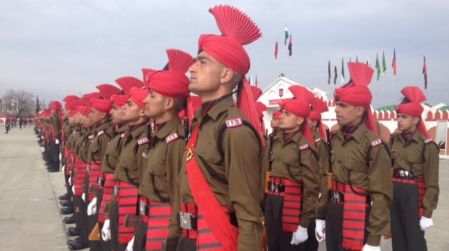 219 youths were inducted into the Indian Army in Srinagar
