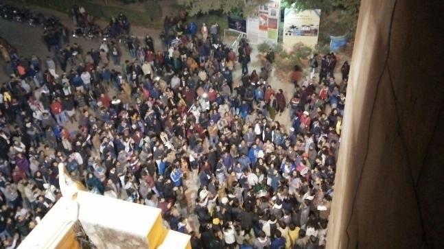 JNU students protest over compulsory attendance rule