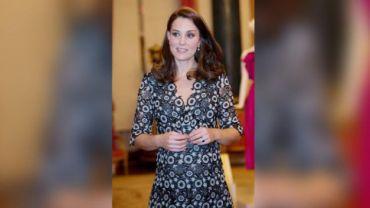 Kate Middleton at Commonwealth Fashion Exchange reception.