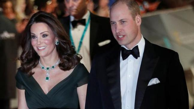 Kate breaks with protocol and wears GREEN to BAFTA's