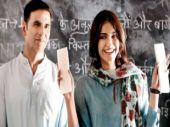 Akshay Kumar and Sonam Kapoor in a still from Pad Man