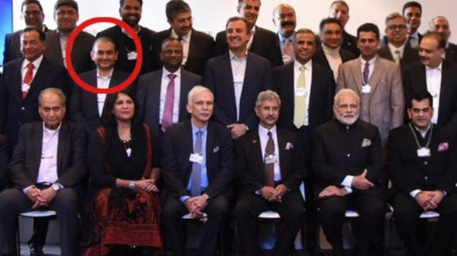 Image result for nirav modi with pm at davos