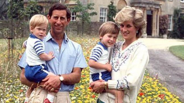 Prince Charles And Princess Diana With Their Children William Harry
