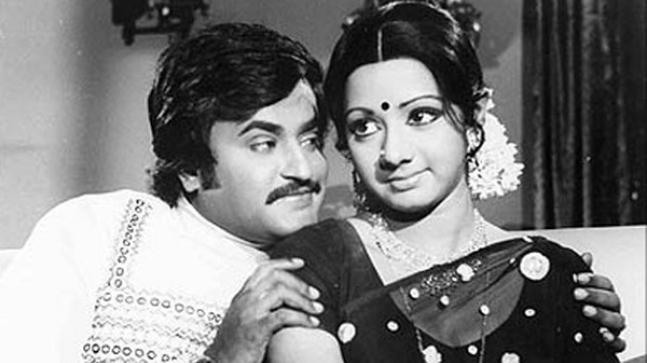 Rajinikanth and Sridevi
