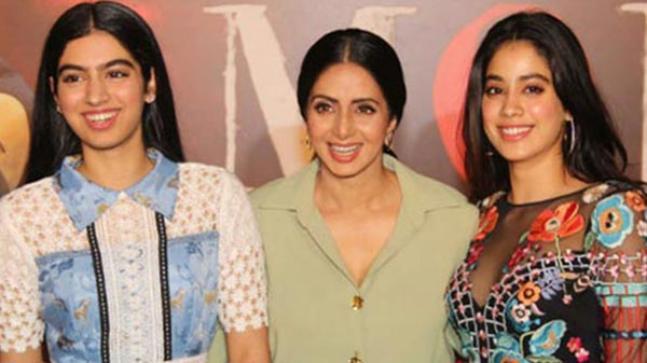 (L-R) Khushi Kapoor, Sridevi and Janhvi Kapoor