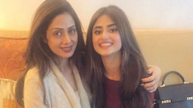 Sridevi (L) and Sajal Aly