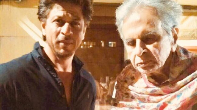 Shah Rukh Khan and Dilip Kumar