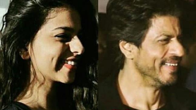 Suhana Khan (L) and Shah Rukh Khan