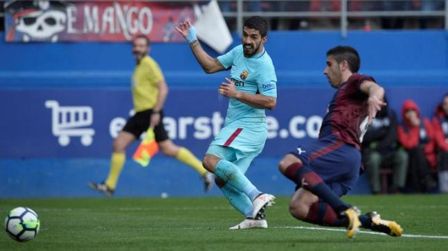 La Liga: Suarez, Alba power FC Barcelona to 2-0 win at Eibar