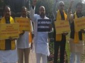 Andhra MPs continue protest, Rajya Sabha adjourned again