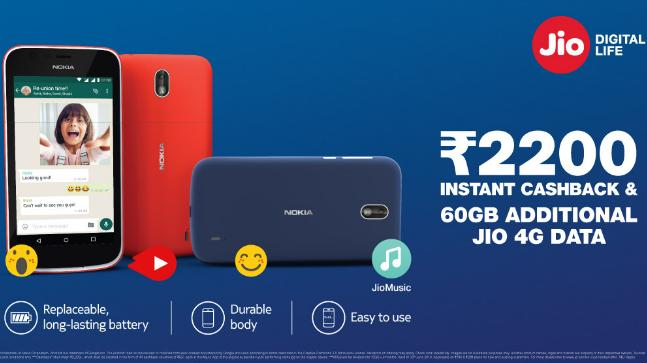 Nokia 1 sells with Jio Rs 2200 cashback, available for Rs