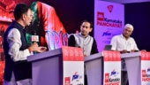 Union Minister of Steel Jitin Prasada (left) and BJP's Gajendra Shekhawat (right) at the India Today Karnataka Panchayat 2018