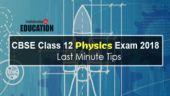 CBSE Class 12 Physics Exam 2018