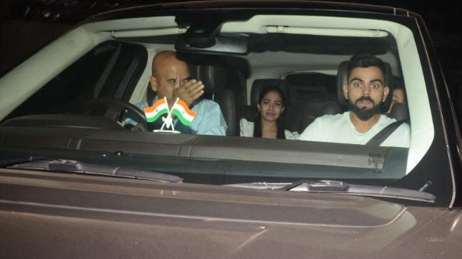 Virat Kohli attended the Pari screening with Anushka Sharma's family in Mumbai (Photo Credit: Viral Bhayani)