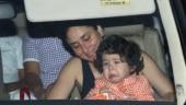 Kareena calms an upset Taimur on way to BFF Amrita Arora's house