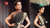 Let Kangana Ranaut show you how NOT to wear a belt with a saree