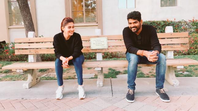 Nayan and Vignesh in the US