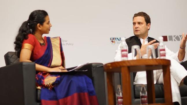 Rahul Gandhi in Singapore