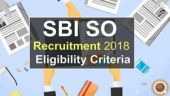 SBI SO Recruitment 2018 released at sbi.co.in: Eligibility criteria